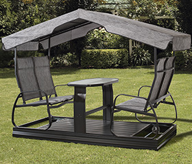 Swings and garden furniture from Trévi Châteauguay