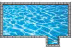 Lap In-ground Pool Shape from Trevi  Châteauguay