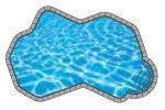 Oasis In-ground Pool Shape from Trevi  Châteauguay