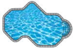 Ocean In-ground Pool Shape from Trevi  Châteauguay