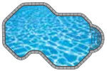 Riviera In-ground Pool Shape from Trevi  Châteauguay