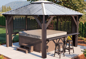 Gazebo designed for outdoor spa